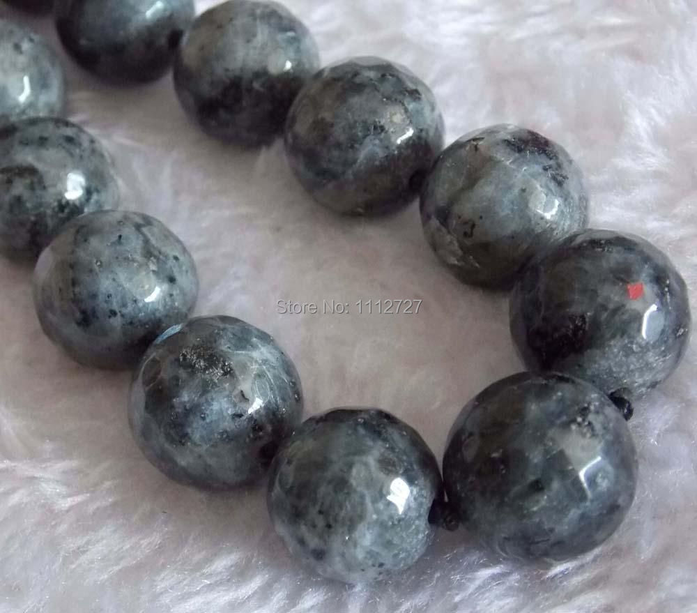 fashion 6-14mm Beautifu Indian Labradorite Round Faceted Jewelry Loose Beads Necklace Natural Stone 17&39;&39;BV286 Wholesale Price