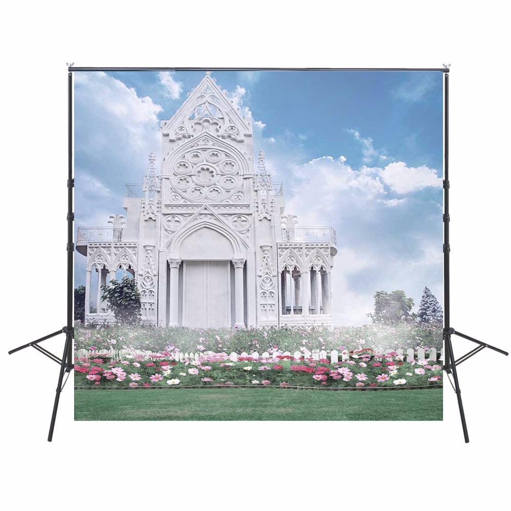 Floral Photography Backdrops Wedding Vinyl Backdrop For Photography White Castle Background For Photo Studio Foto Achtergrond