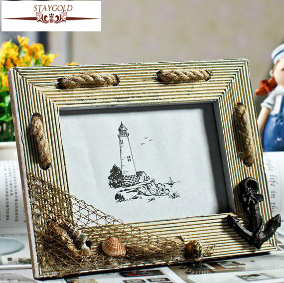 Simple Wooden Photo Frame Idyllic Mediterranean Style Home